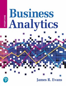 Business Analytics 3rd Edition by James R. Evans【ebook】