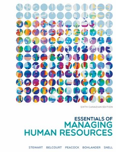 Essentials of Managing Human Resources Canadian Edition 6th by Eileen Stewart【ebook】