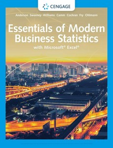Essentials of Modern Business Statistics with Microsoft Excel 8th Edition by David R. Anderson【ebook】