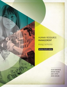 Human Resource Management Strategy and Practice 9th Asia-Pacific Edition Alan Nankervis【ebook】