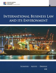 International Business Law and Its Environment 10th Edition by Richard Schaffer【ebook】
