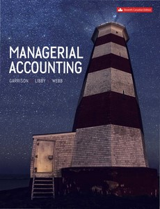 Managerial Accounting 11th Canadian Edition by Garrison【ebook】