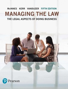 Managing the Law The Legal Aspects of Doing Business 5th Edition by Mitchell McInnes【ebook】