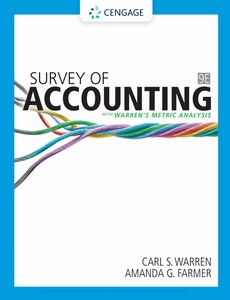 Survey of Accounting 9th Edition by Carl Warren【ebook】